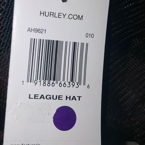 Hurley Accessories - NWTags Hurley League Hat Nike Dry Fit NEW